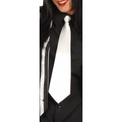 Corbata Blanca 40 cm.