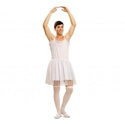 Disfraz de Bailarina Blanca Hombre