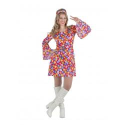 Disfraz Mujer Años 70 Flores