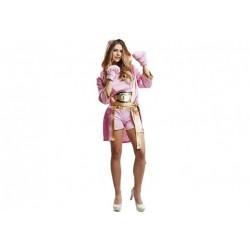 Disfraz de Boxeadora Rosa T-M/L