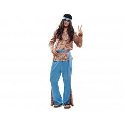 Disfraz de Psychodelic Hiipie Mujer T-M/L
