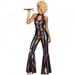 Disfraz de Rainbow Disco Jumpsuit T-M/L
