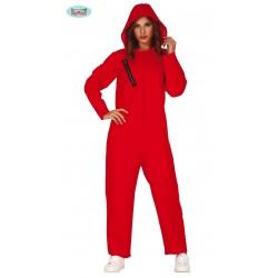 Disfraz de Convicto Rojo Mujer
