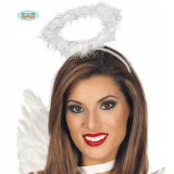 DIADEMA CORONA ANGEL PLUMAS