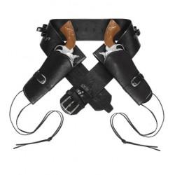 Cinturón Doble con Funda Pistola