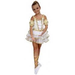 Bailarina Blanco/Dorado