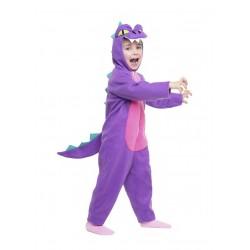 Disfraz de Dinosaurio Morado