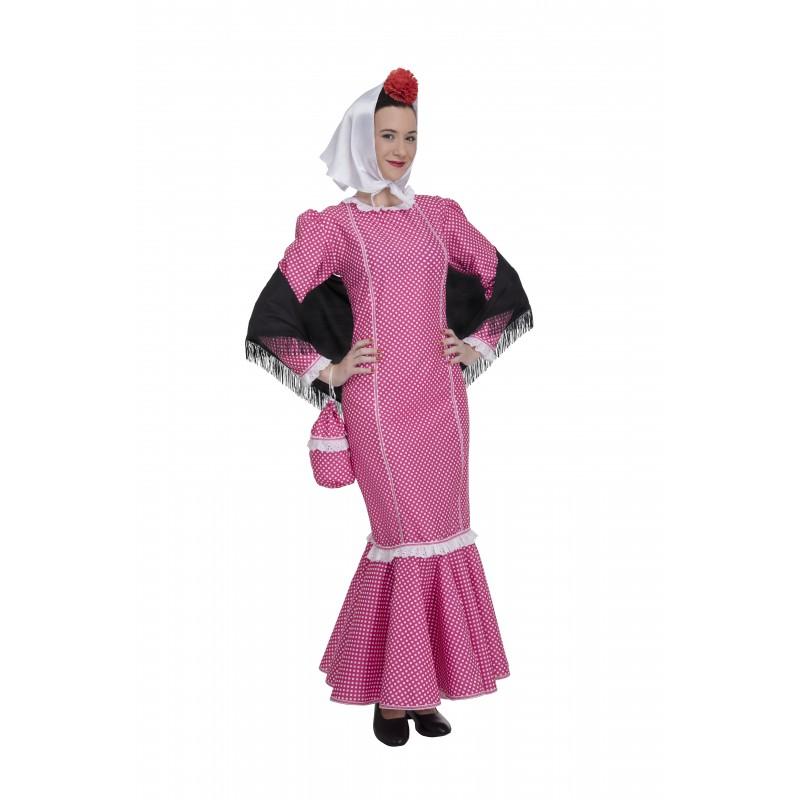 Disfraz de Madrileña Rosa
