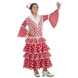Disfraz de Flamenca Sevilla Rojo