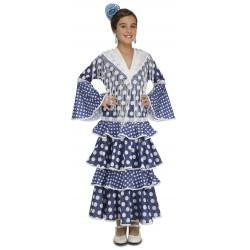 Disfraz de Flamenca Guadalquivir Turquesa