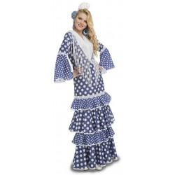 Disfraz de Flamenca Alvero Azul