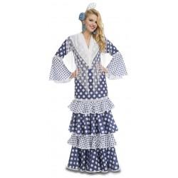 Disfraz de Flamenca Soleá Azul