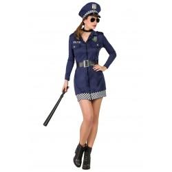Disfraz de Policia Mujer Cuadritos