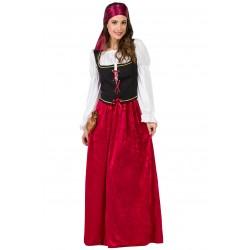 Disfraz de Mesonera Medieval Terciopelo