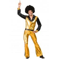 Disfraz de Disco Amarillo Hombre