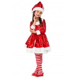 Disfraz de Mama Noel Electirca Niña