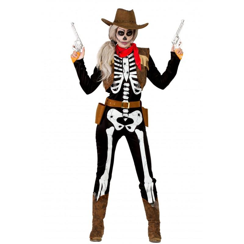 Disfraz de Vaquera Esqueleto Mujer - MEGAFIESTA 1f4b1a30b30