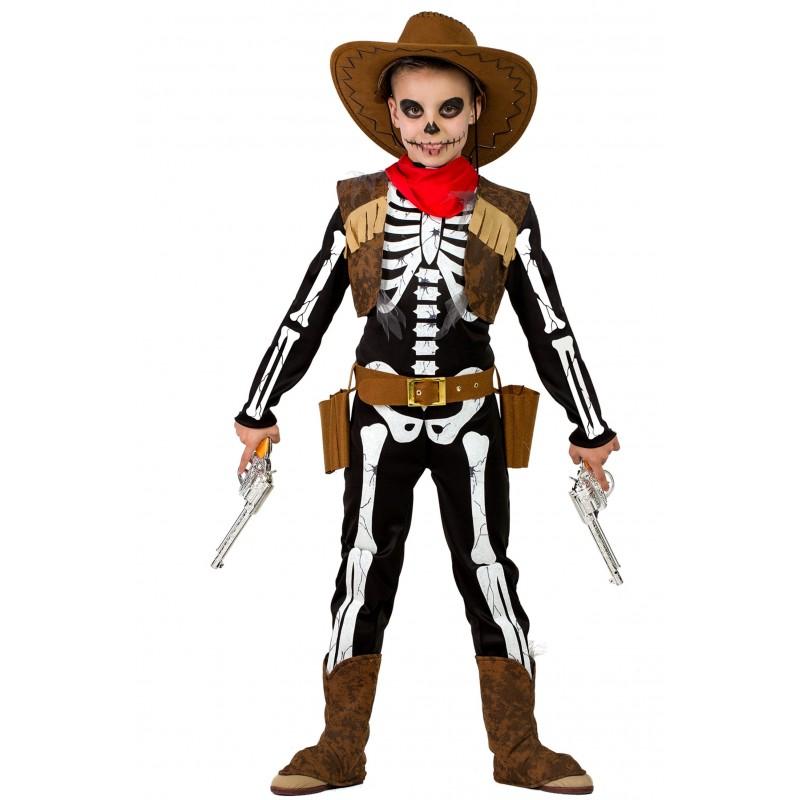 Disfraz de Vaquero Esqueleto Niño - MEGAFIESTA d18115d9434
