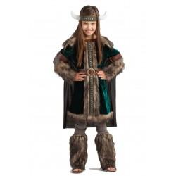 Disfraz de Vikinga Green Niña