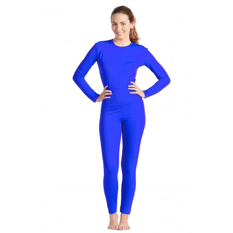 cdb82761487c Mono Azul Spandex Mujer