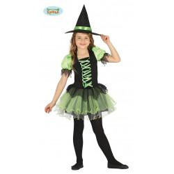 Disfraz de Bruja Negra y Verde tutu