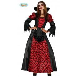 Disfraz de Vapires Bordada Roja y Negra