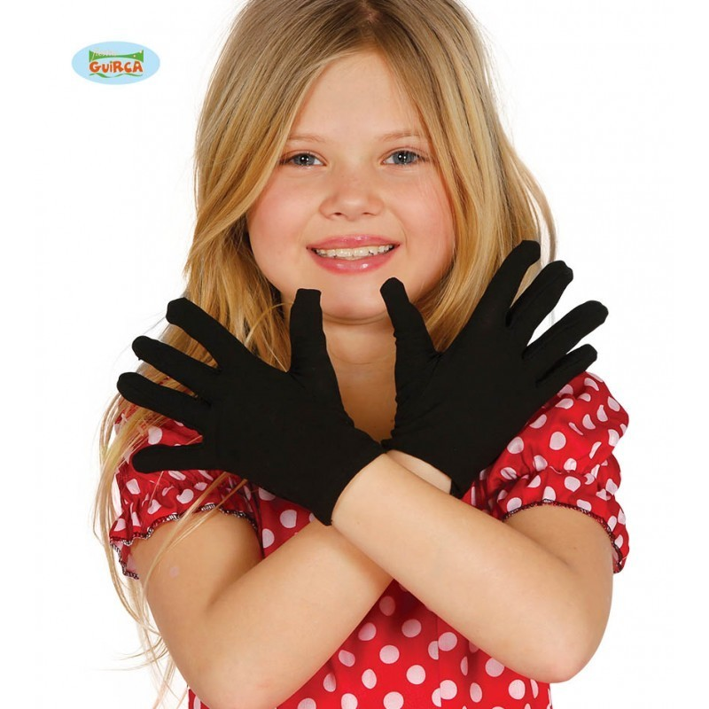 Guantes Infantiles Negros 22 cm.