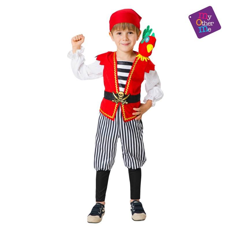 Disfraz de Pirata con Loro de Peluche