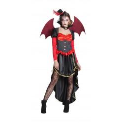 Disfraz de Vampiresa Victoriana con alas