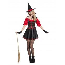 Disfraz de Bruja Negra y Roja