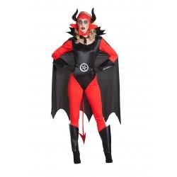 Disfraz de Demonia Corsé con capa