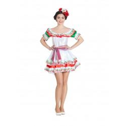 Disfraz de Mejicana Falda Corta