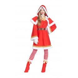 Disfraz de Mama Noel con Capa y Capucha
