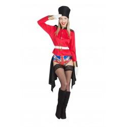 Disfraz de Guardia Inglesa con Bandera Sorpresa